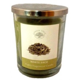 Bougie Green Tree Sauge Blanche 200g